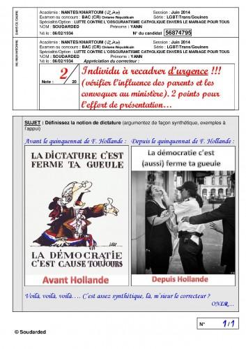 Question au Bac 2014 Définissez la notion de dictature (argumentez) 2.jpg